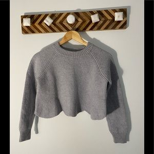 Wilfred cropped scallop sweater